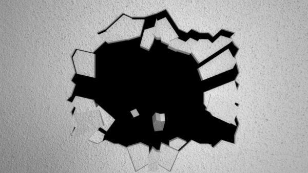 fallen wall video mapping loop