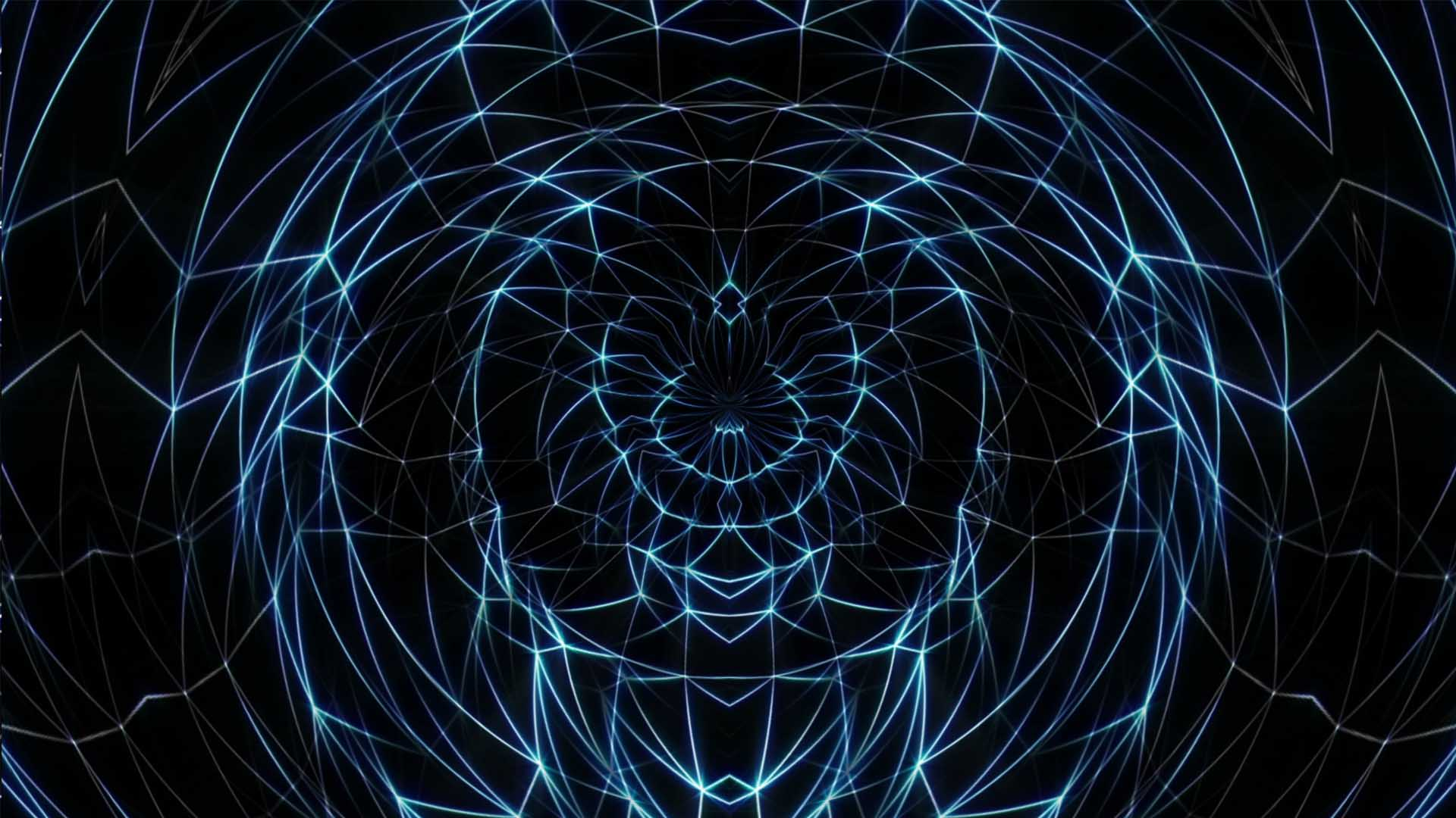 Blue lines Vj loop video wallpaper polygonal background