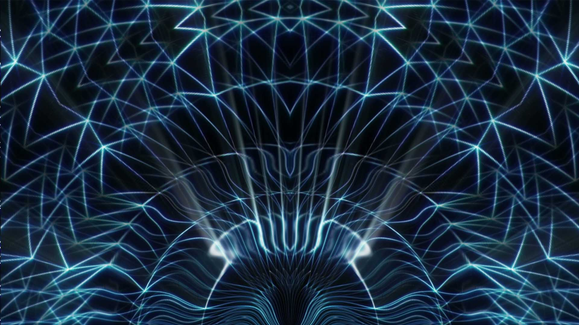 Blue lines Vj loop video wallpaper