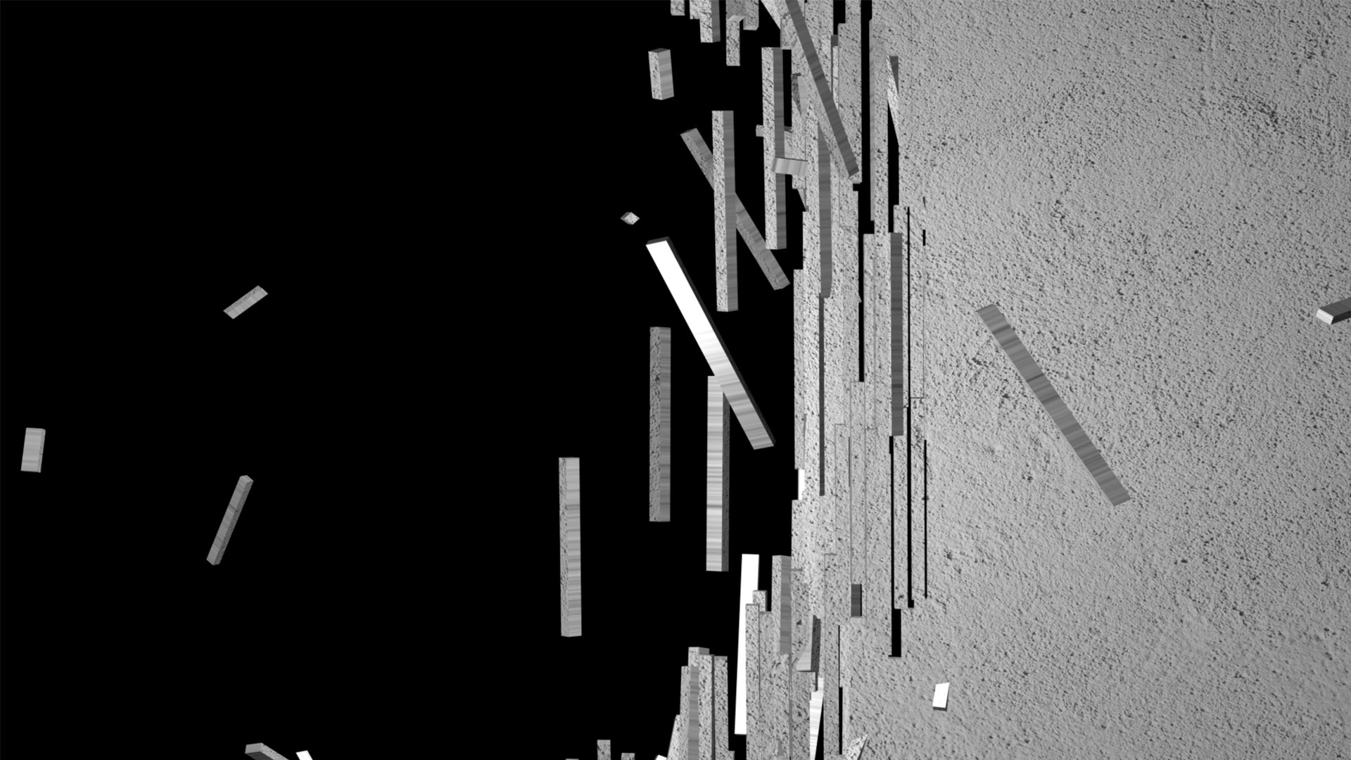 video mapping loops falling wall