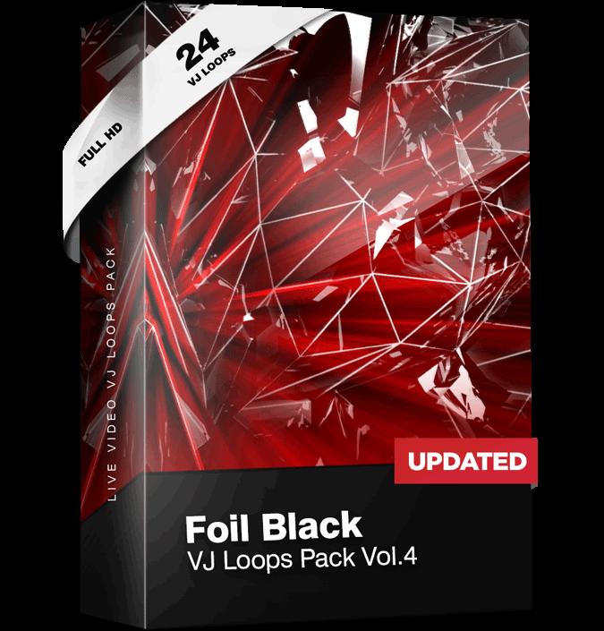 Foil-Black-VJ-Loop-Pack Red