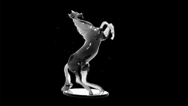 Liquid_Geometry_Statue_Isolated_on_Black_Background_Video_VJ_loop Horse