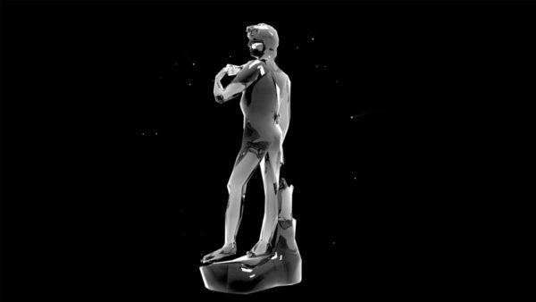 Liquid_Geometry_Statue_Isolated_on_Black_Background_Video_VJ_loop