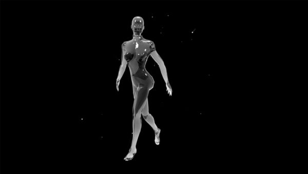 Liquid_Geometry_Statue_Isolated_on_Black_Background_Video_VJ_loop mannequin