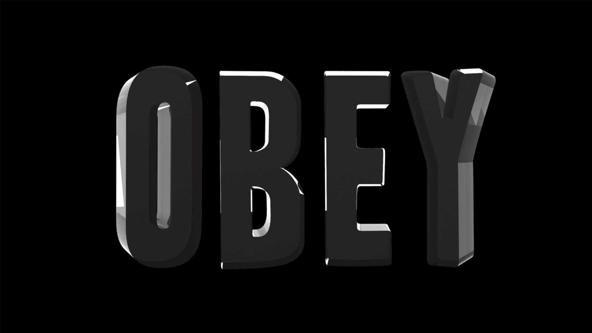 obey text