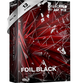 Video Loops vj loops foil black