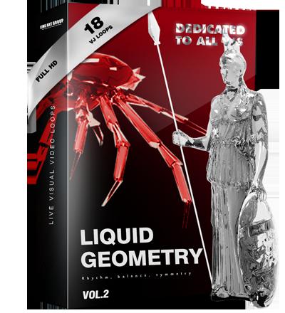 Video Loops vj loops liquid geometry