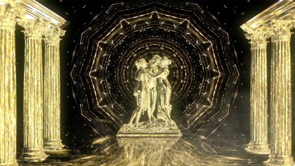 Light_Rays_Video_Background_Wallpaper_VJ_Loop_HD statue gold
