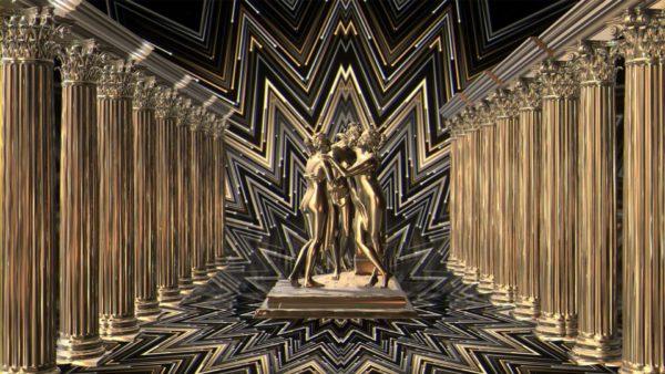 statue gold wallpaper