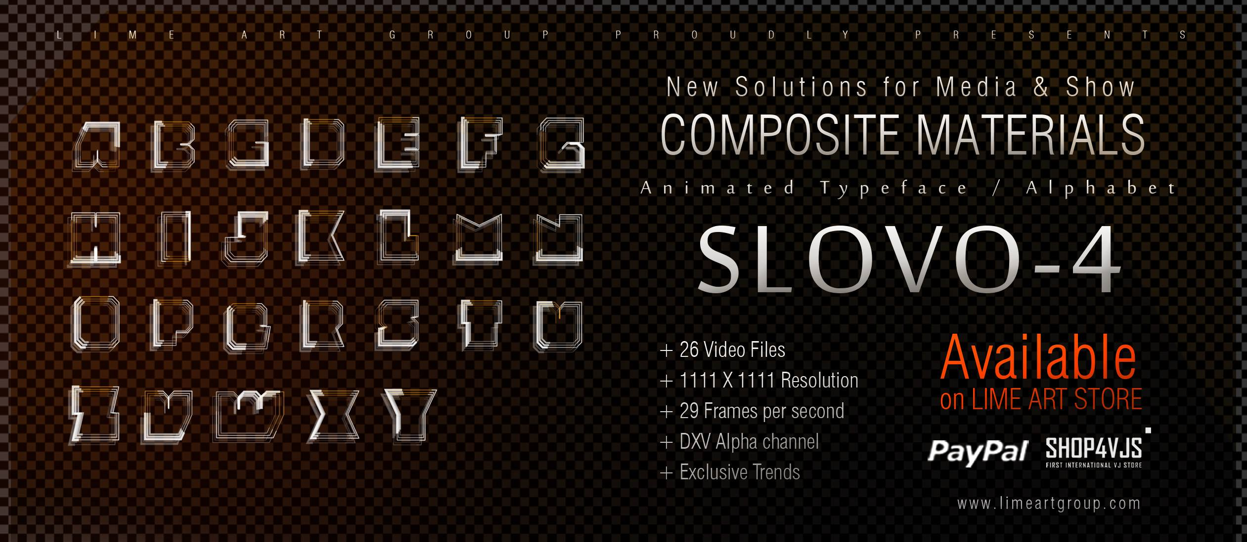 Animated typeface f4