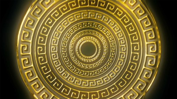 Olympia_Greece_Symbols_Ornament_Gold_Motion_Background_Video_VJ_Loop_HD