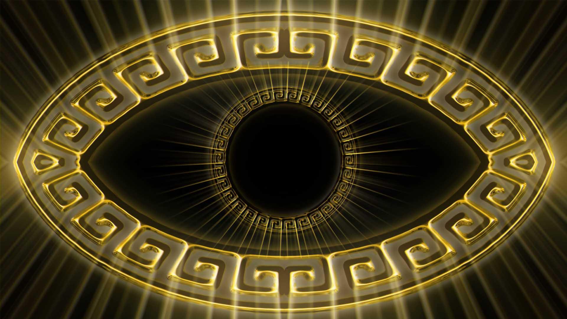 Olympia_Greece_Symbols_Ornament_Gold_Motion_Background_Video_VJ_Loop_HD