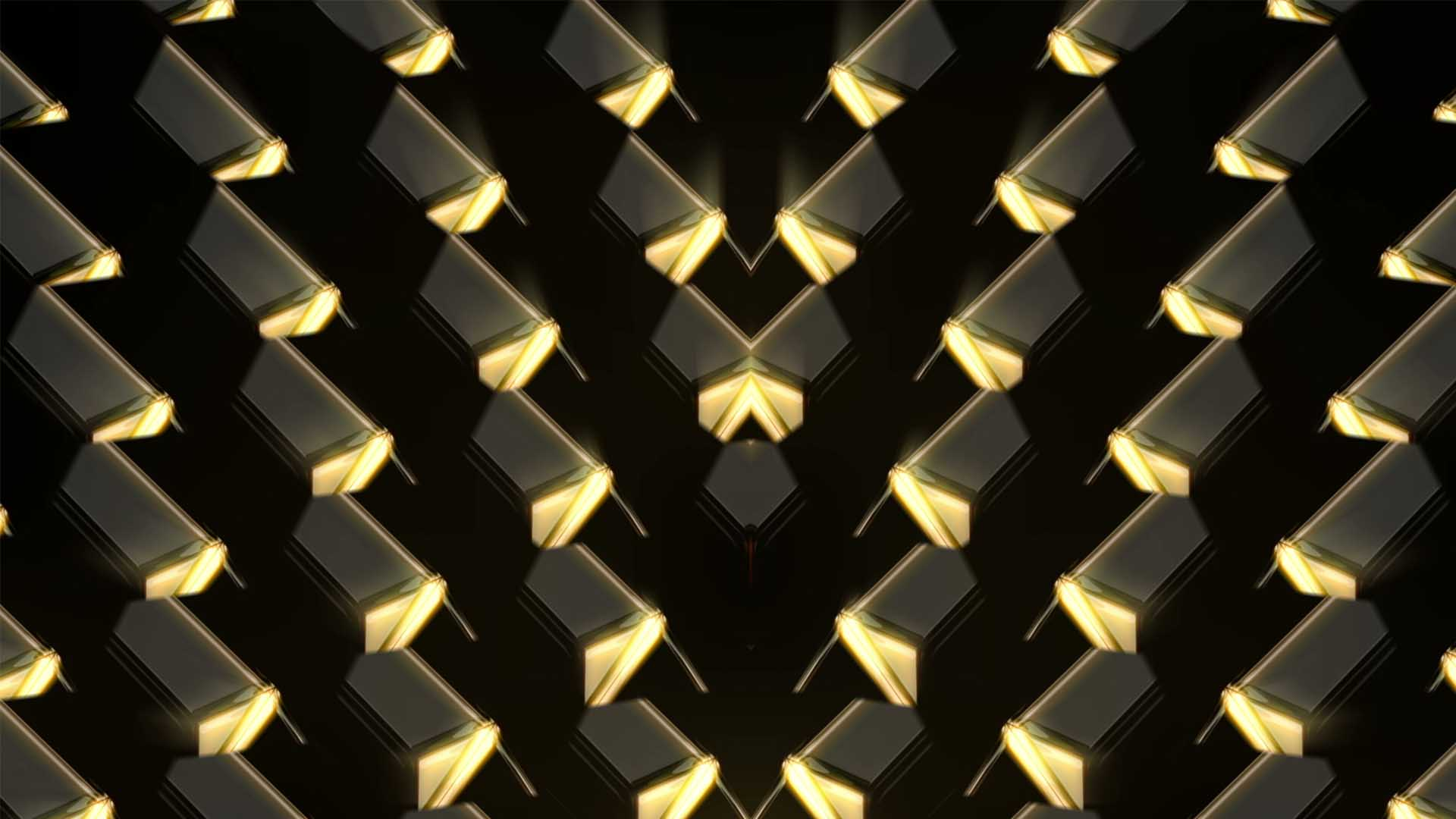 gold vj loop event visuals