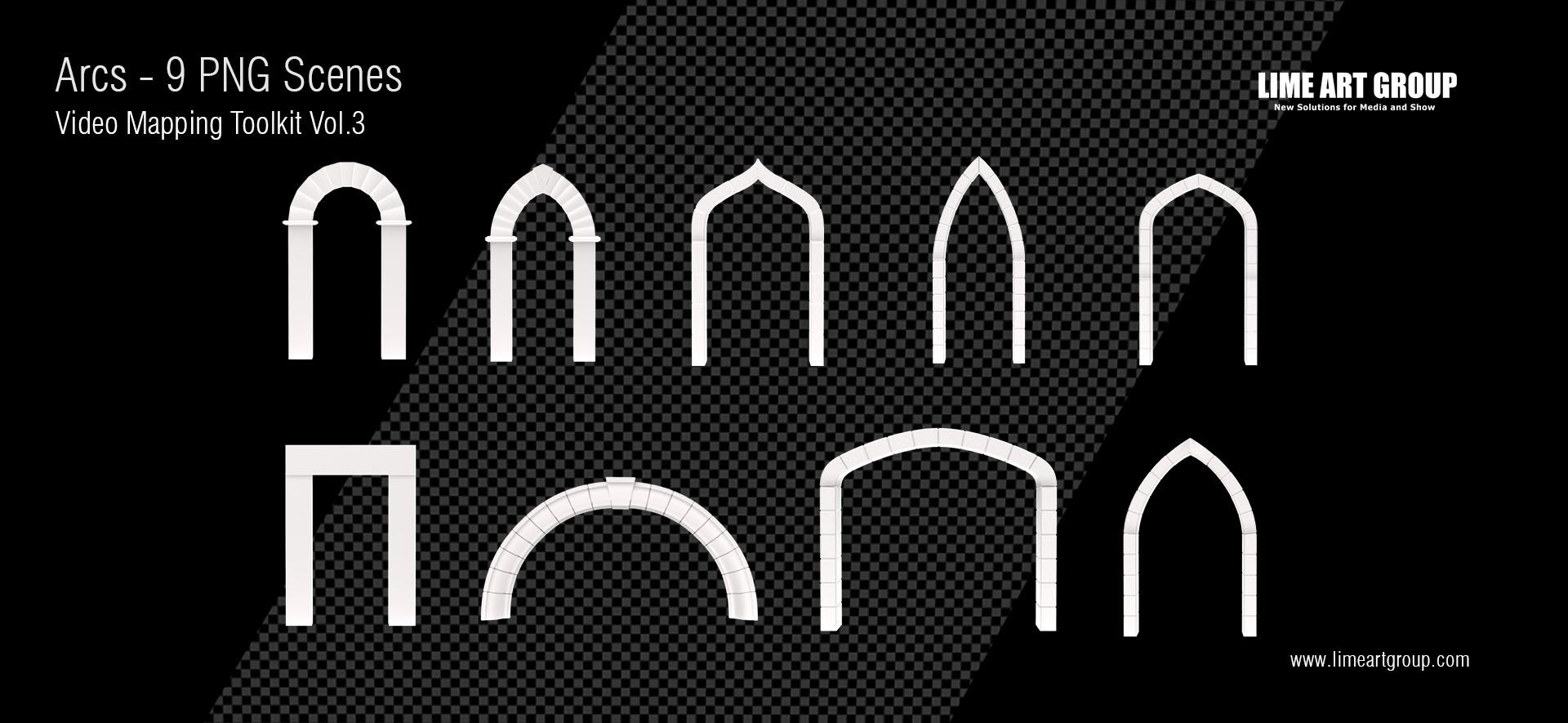 Architectural elements projection – Arcs