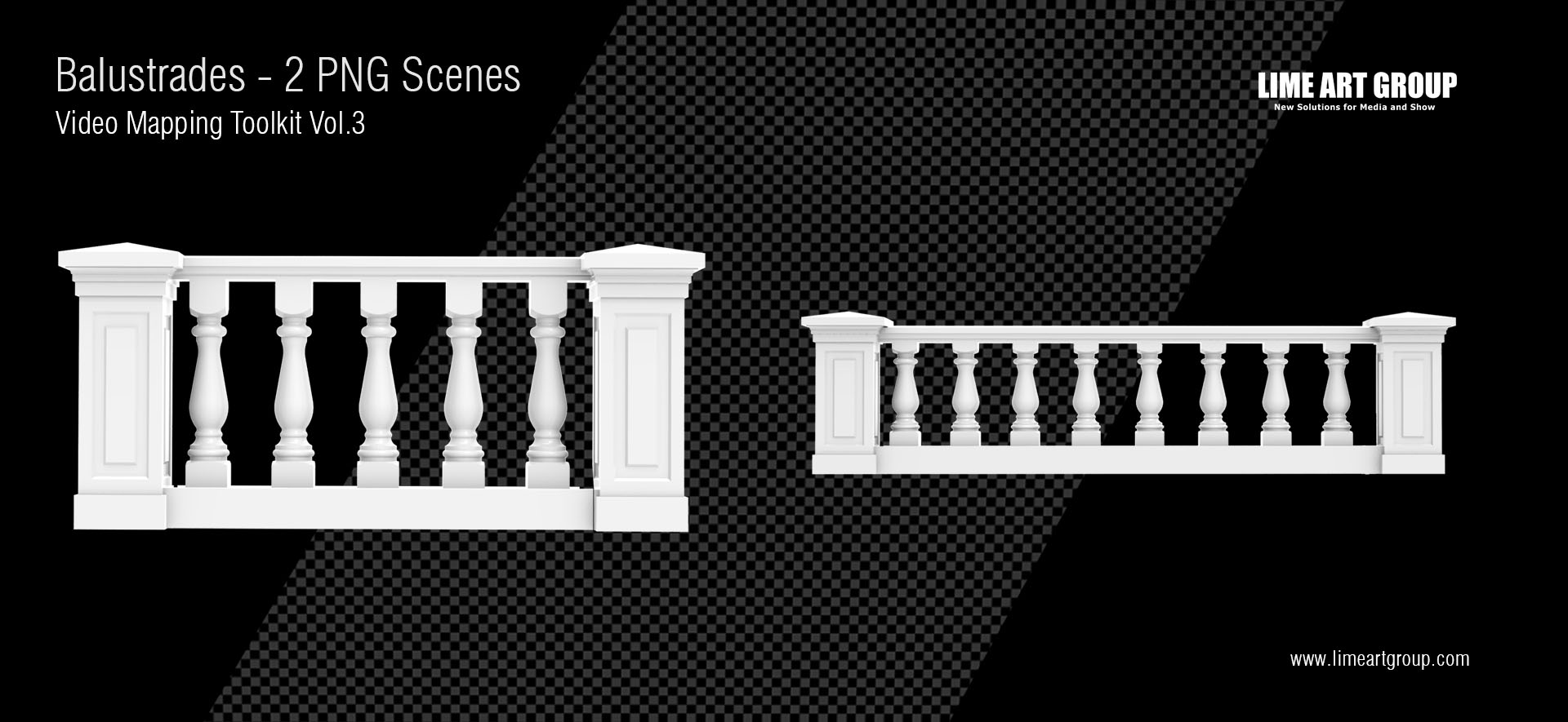 Architectural elements projection – Balustrades