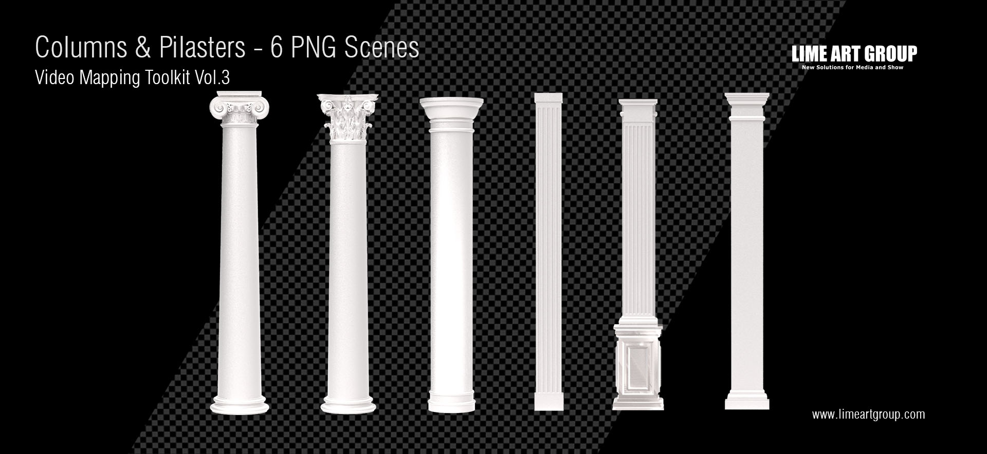 Architectural elements projection – Columns