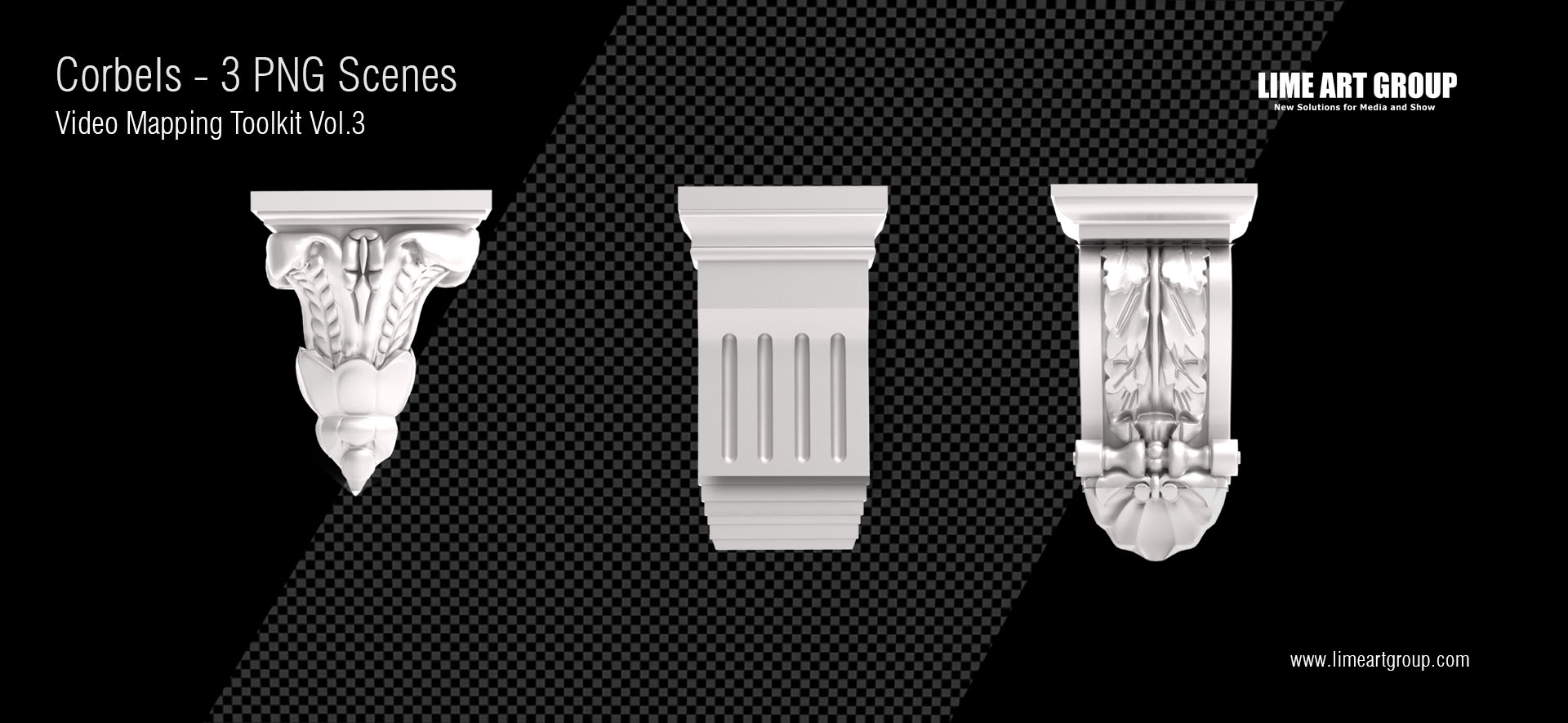 Architectural elements projection – Corbels