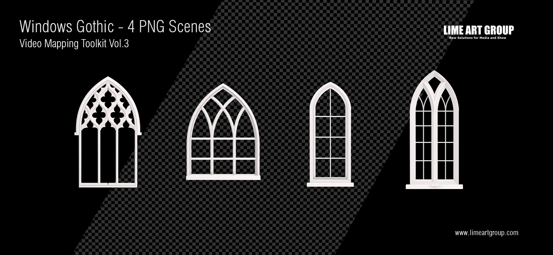 Architectural elements projection – Gothic Windows