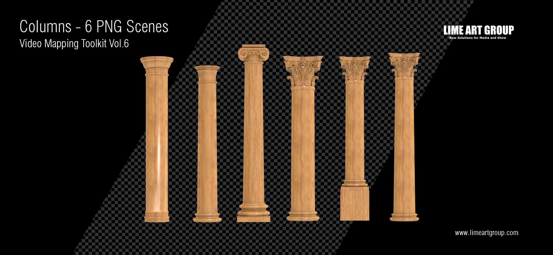 Columns video animation