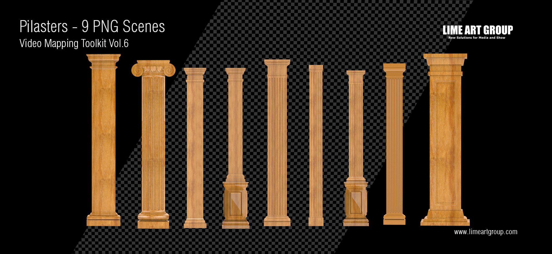pilaster video animation 3d