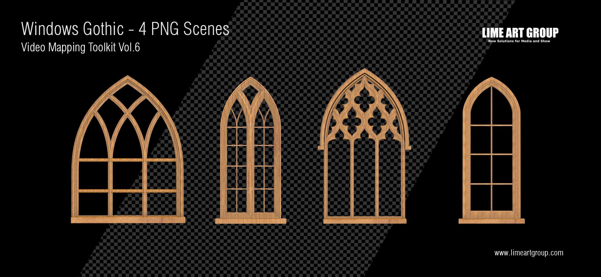 gothic window video animation