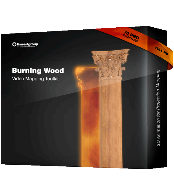 Burning Wood Effect Animation Video Mapping Toolkit