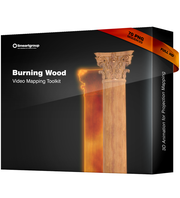 Burning Wood fire video mapping toolkit