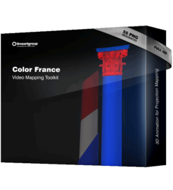 Color France Video Mapping Animation