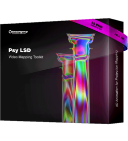 Psychedelic Animation Projection mapping