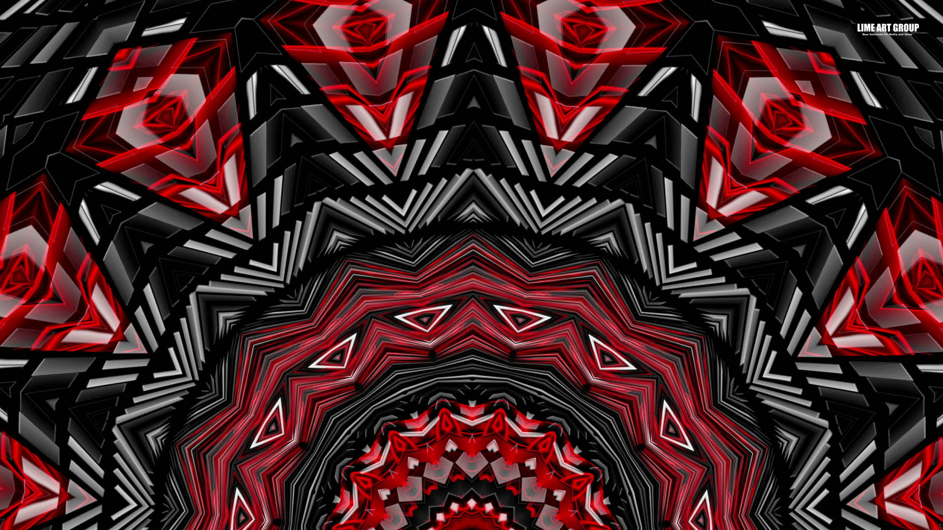 Video Loops, Red color vj loops abstract 7