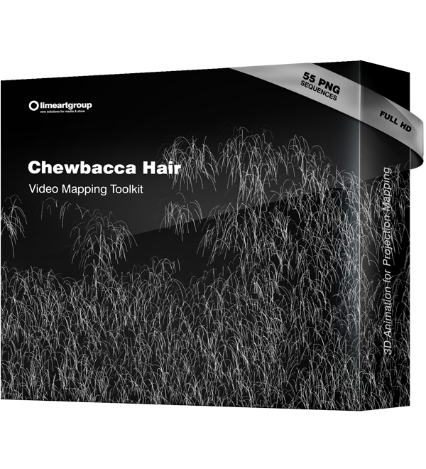 Chewbacca Hair video mapping animation