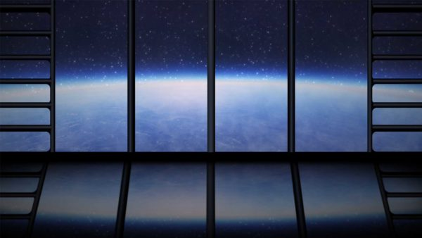 Space View Window in Space Abstract Motion Background wallpaper video HD VJ Loop