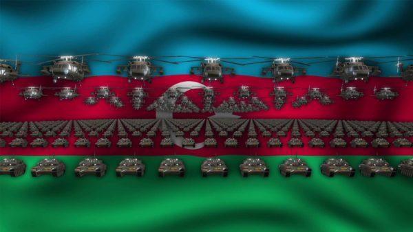 Baku Army National Flag video background vj loop