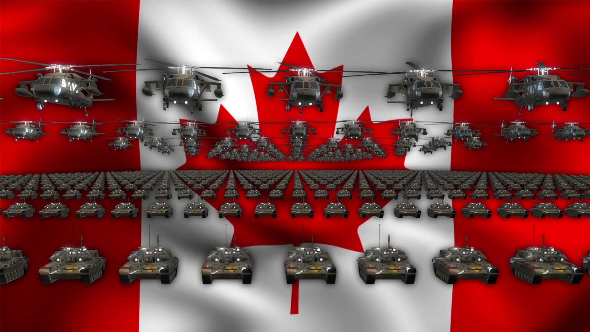 Canada army flag ideo background vj loop