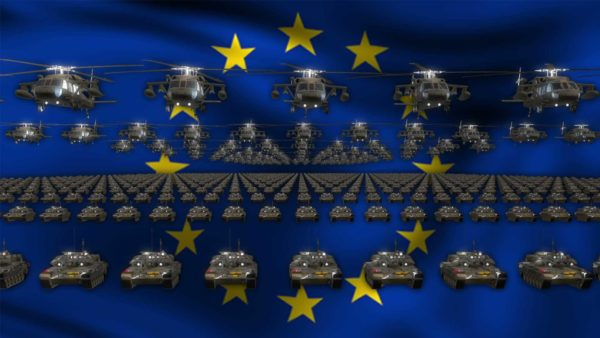 European Union video background vj loop