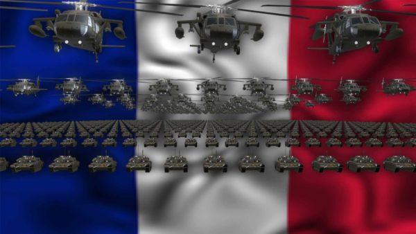 France army video background vj loop