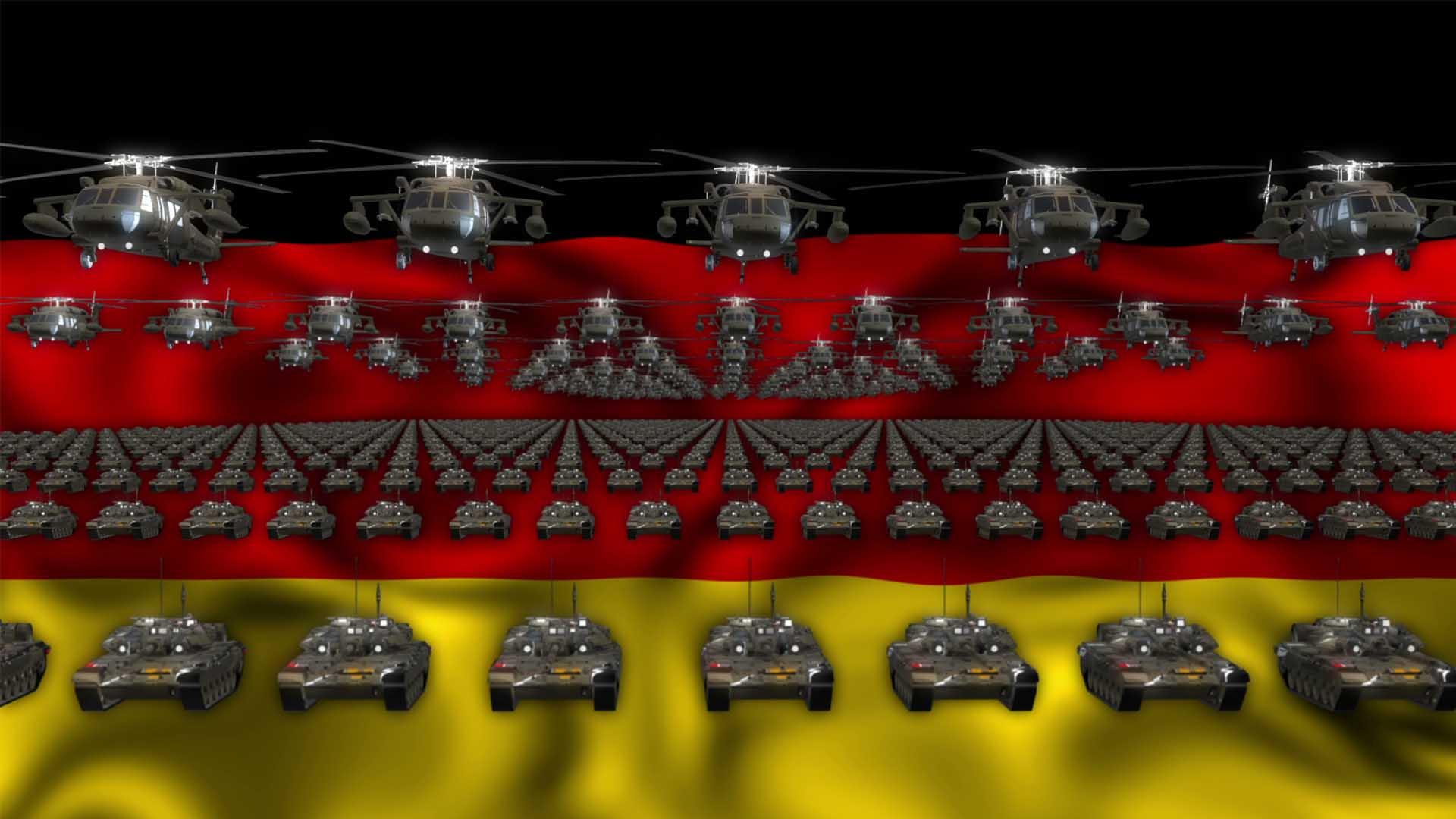 Germany army video background vj loop
