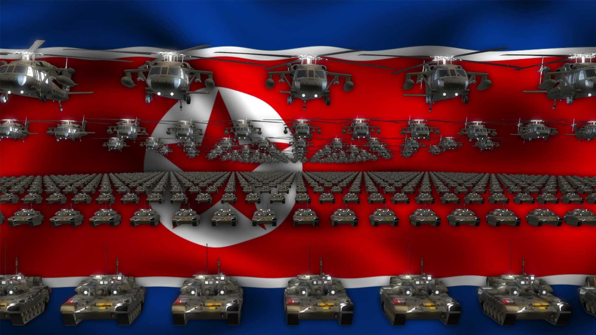 North Korea Iran video background vj loop