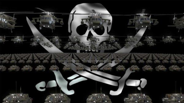 Pirate Army video background vj loop