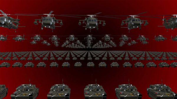 Black Army video background vj loop
