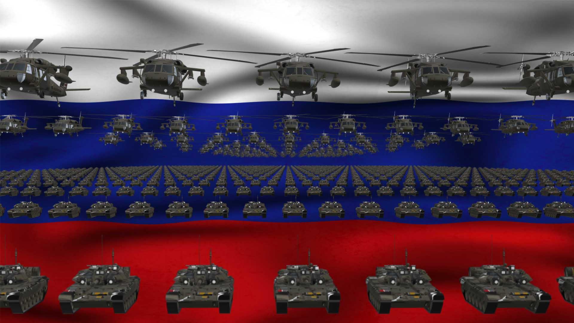Russian Army video background vj loop