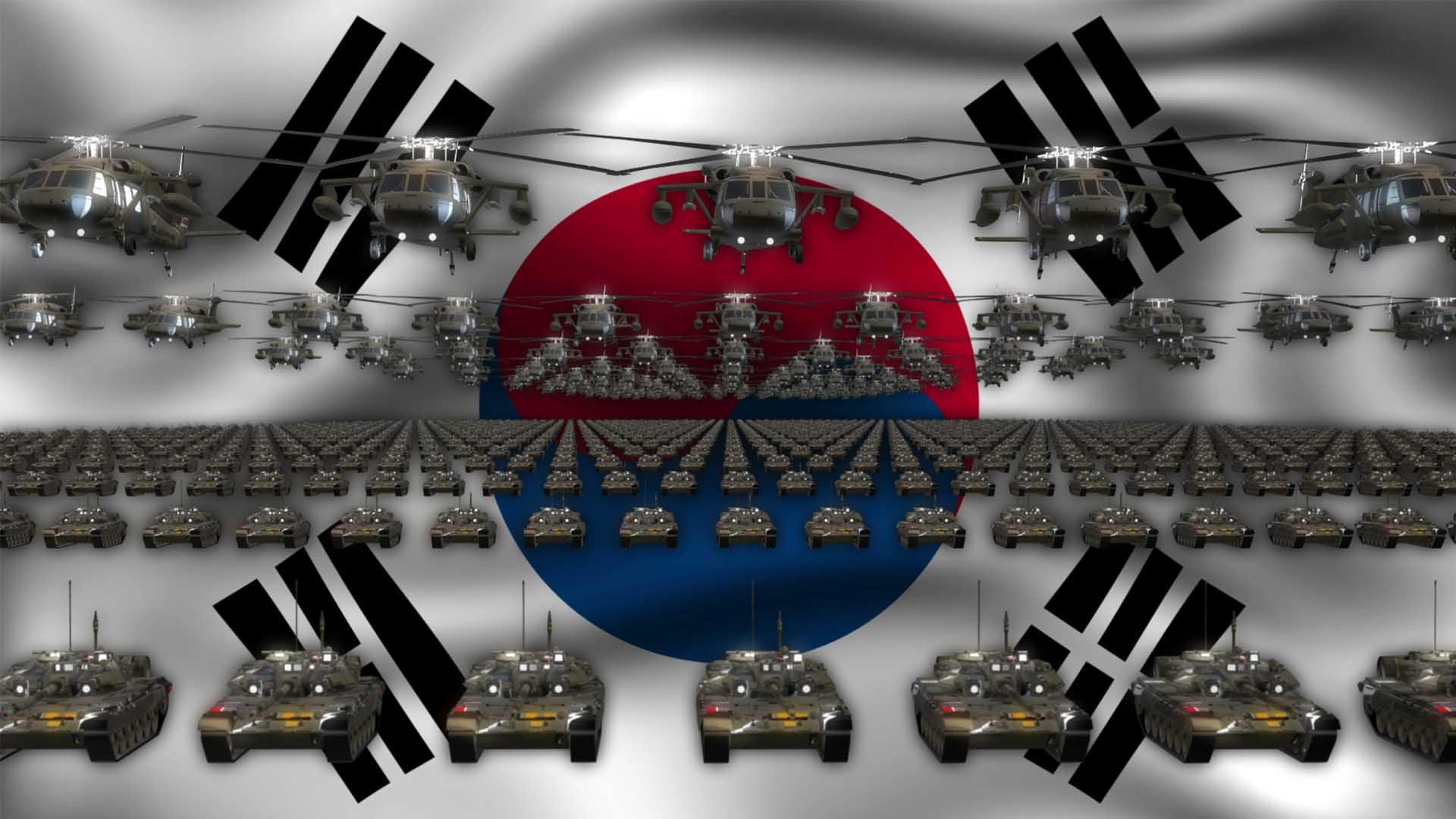 South Korea Army video background vj loop