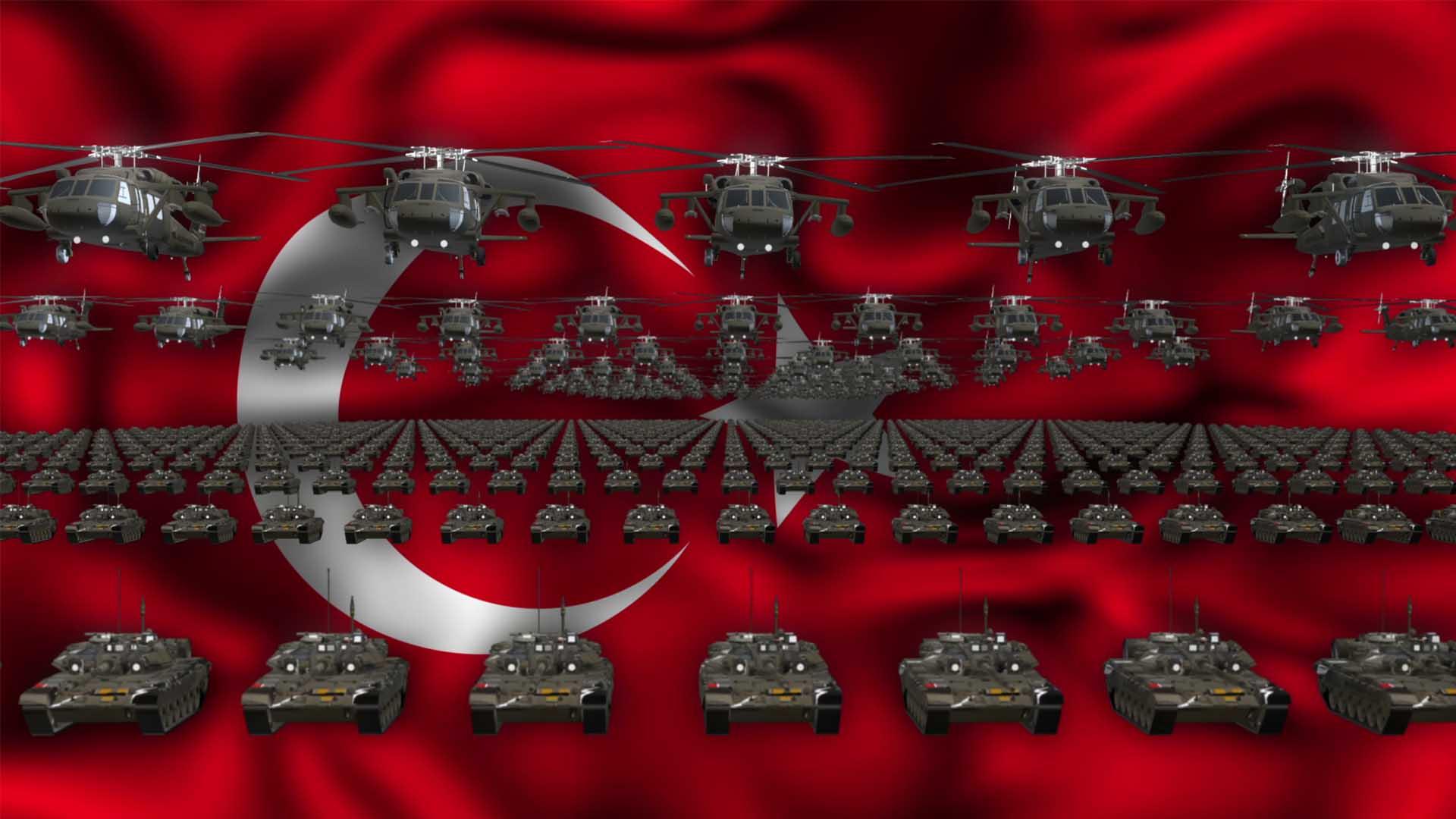 Turkey Army video background vj loop