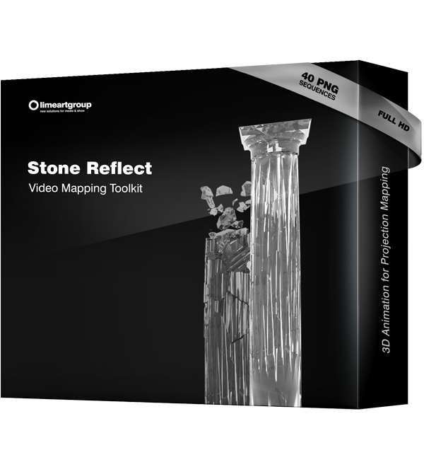 Stone Reflect video mapping projection