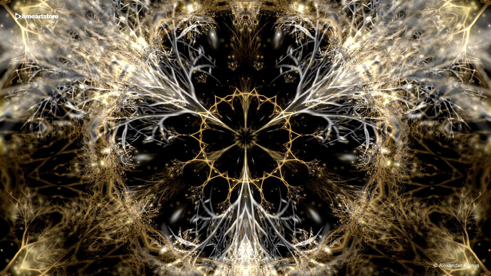 Beauty abstract vj loop motion background gold 60fps 10