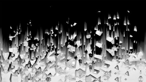 3d displace video background for projection mapping