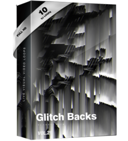 glitch background visuals