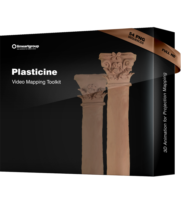 Plasticine video mapping animation