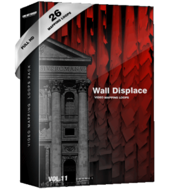 Wall-Displace-vj-loops Video Mapping