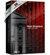 Wall Displace vj loops video mapping